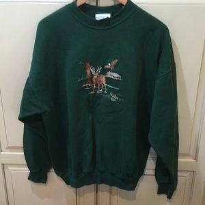 Vintage 90s embroidered crewneck sweatshirt xl